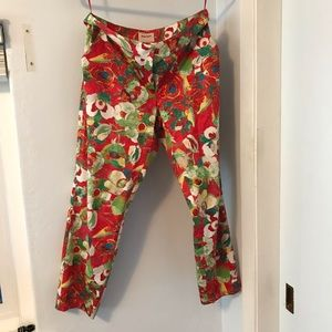 Peter Som cropped Kelly Poppy pants